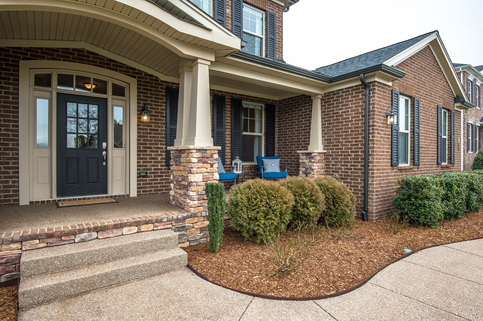 Only 4 years old in one of Nolensville's favorite neighborhoods in Williamson Co w/award-winning schools, this home has tons of space! 5 bedrooms (w/master & guest suites on main), 4 FULL baths, hardwoods, sunroom, kitchen w/granite, island + eat-in area, walk-in pantry & formal dining  bonus room + media room, 3 car garage, playset on lot that backs up to wooded area w/ trails & playground! 3 community pools! Virtual tour http://tour.showcasephotographers.com/index.php?sbo=rs2003093