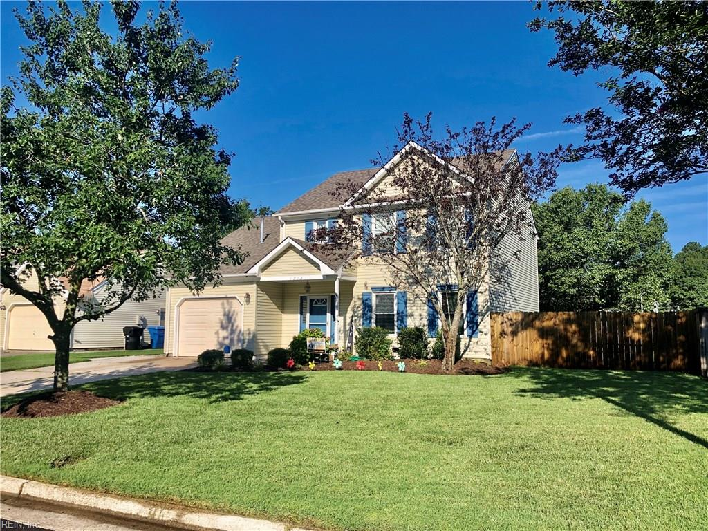 This family friendly home will not last long! These homes do not come on the market very often in this prime location. This beautiful home is move in ready with a open floor plan and large rooms. Kitchen is located centrally in the house for easy entertaining in the den and great room. Large kitchen has ceramic tile floors, granite countertops ,upgraded cabinets with room for a eat in kitchen table as well as a high top bar for the kids.  All four bedrooms are upstairs as well as two full baths. The master bedroom is a full suit with a spacious bath and closet.  The house also sits towards the rear of the neighborhood with park/playground being within walking distance.  VA Beach Courthouse, grocery stores and Kellam Highschool are less than 5 minutes from the house. Restaurants, shopping, entertainment, Damneck and Oceana bases are extremely close as well as a fast commute to the VA Beach express way . Architectural roof is less than 5 years old .