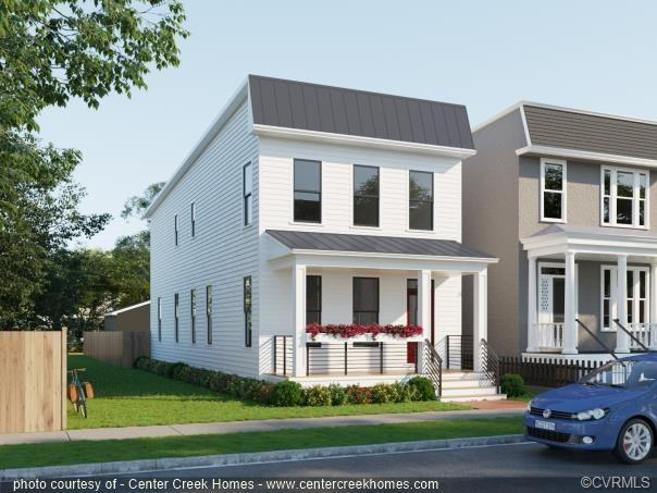 Newly constructed homes in Historic Church Hill are few and far between, and you don't want to miss this one! This home was thoughtfully crafted by Center Creek Homes to mesh into the historic fabric of the neighborhood while offering all of the amenities of modern living. You'll love the efficiencies and low maintenance of new appliances, durable HardiePlank siding and Energy Star® windows. Upgraded moldings and hardwood floors flow throughout the open and airy floorplan. The large chef's kitchen offers TONS of counter space, white Shaker cabinets, gas cooking and black stainless steel appliances. Large bar-style seating opposite the formal dining space and family room make this home perfect for entertaining. Upstairs, all bedrooms are spacious and bright. The owner's suite has not one, but two spacious walk-in closets and a luxury en suite bathroom with double vanity and luxury tile shower. This home also offers great outdoor space with a detached two-car garage, and is only a few blocks from Chimborazo Park, Alewife, Metzger, and other neighborhood favorites! Make this home yours before construction begins and select finishes tailored to your style!