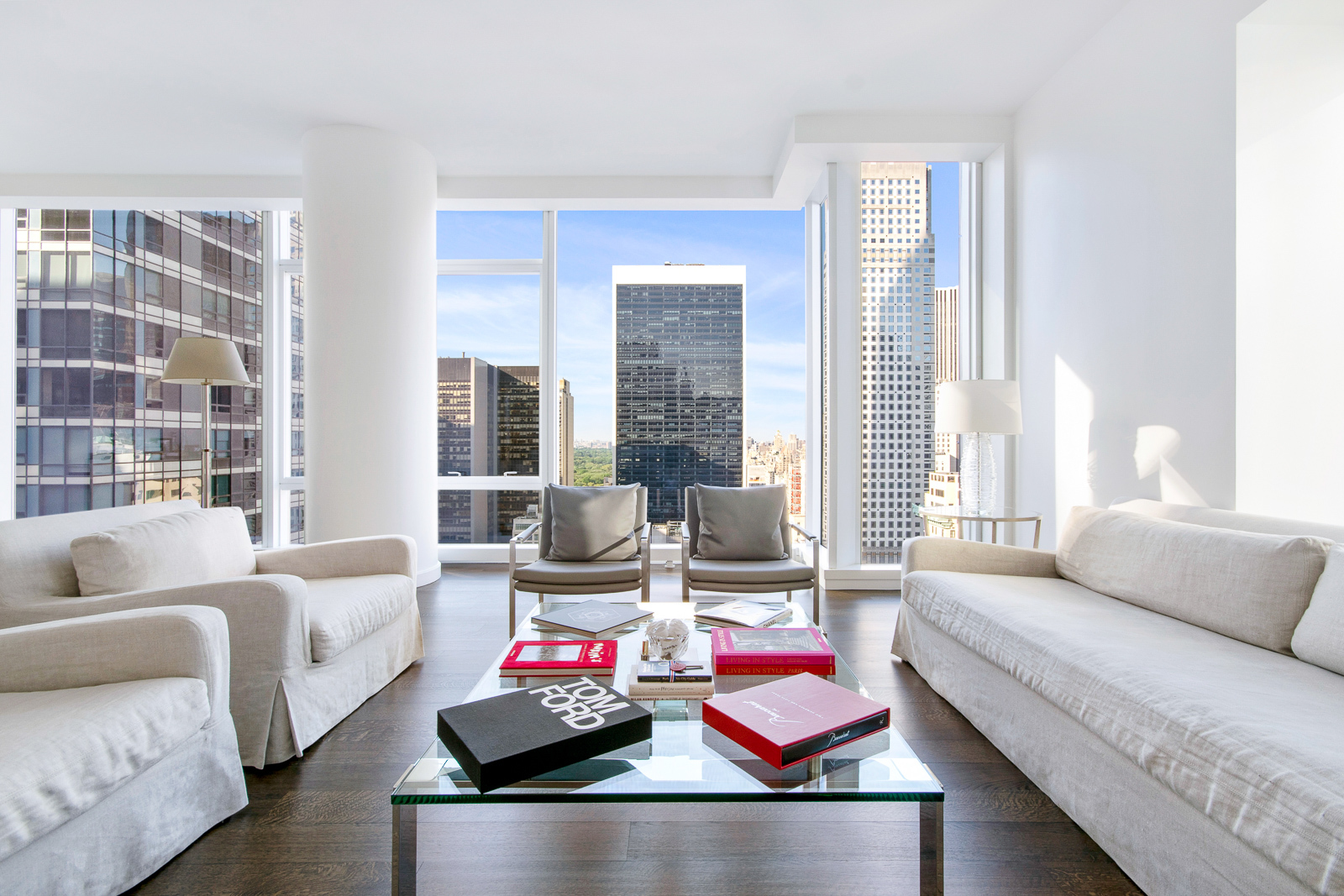 Perfect for investors. Leased from July 2021  This is the most desirable 3 bedroom/ 3.5 bath at the the renowned Baccarat Hotel and Residences giving you access to the most luxurious Manhattan life-style. With a generous 2,303 approx.sq.ft. and both North and East exposures, you are captivated by fantastic Central Park Views. The interior was designed by Tony Ingrao which offers the ultimate high-end in luxury living including wide ebony stained white oak floors, SieMatic kitchen with ebonized walnut and nickel frame cabinetry, Miele and Sub- Zero appliances and washer/dryer. With a separate kitchen, this layout allows for the maximum space needed for entertaining in the living/dining room. Master bathroom is impeccably detailed with honed Lido white marble slab floors and walls, radiant heated floors, and free standing soaking tub. The second bathrooms are fully clad in Siberian polished marble. Custom Fantini polished chrome fixtures are featured throughout the residence. FURNISHED. No detail was left behind when designing and finishing this immaculate building. The Baccarat Hotel and Residence is known for its unparalleled level of service and luxury living. Residents have unlimited access to the amenities of the flagship Baccarat Hotel, including; Le Chevalier, salon and lounge, Spa de la Mer, Baccarat Bar, full fitness center and marble clad swimming pool with cabanas.  On-site 24/7 are multilingual concierge services, valet and doormen. Located on 5th Avenue and 53rd Street this building is one of the most desirable Midtown locations, sitting across the street from the MoMa and a few blocks from Central Park.