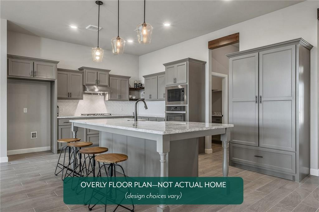 This brand new 3 bedroom home offers Farmhouse style and an open kitchen/living layout with a study, indoor utility/mudroom, and an outdoor covered patio. The kitchen features built-in stainless steel appliances with gas cook range, microwave, tile backsplash, quartz countertops, and breakfast bar. Enjoy the warmth of a simple-start fireplace in the living area! Guaranteed low heating and cooling costs all year long. 10 year structural warranty. 2 year builder's warranty! Scheduled to be move-in ready in September 2021!