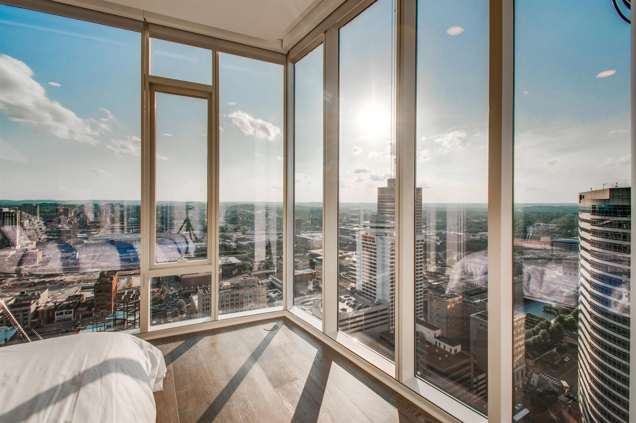 Sales Center Now Open 10:00-5:00 M-F, Sat 11-5. Sun. 1-5. Step into sophistication & luxury living at this elegant condo with 2 amenity floors worthy of Park Ave NYC. Coveted for its unparalleled Nashville views, modern amenities & stylish decor. Unit features upgraded finishes throughout, hardwood floors, a gas range, ample storage, and more! 1 parking space included. Walk to venues, cultural attractions, top restaurants & Nashville landmarks.