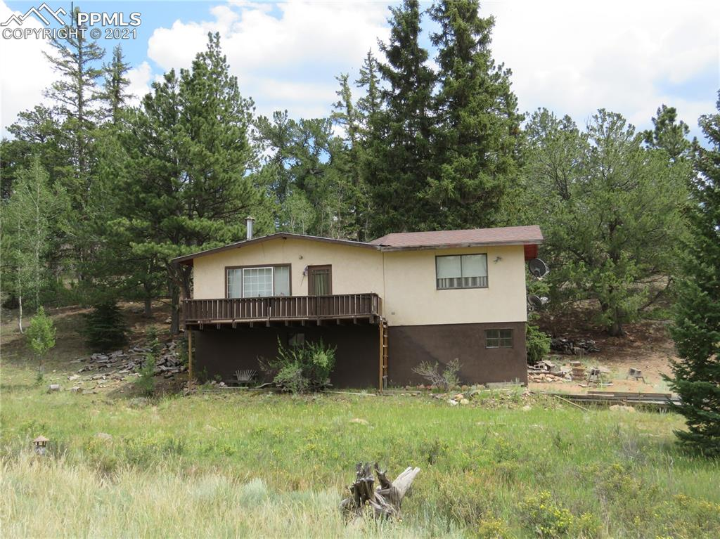 """Picture the possibilities this country fixer-upper offers! Open and bright upper level living space has lovely Colorado views, drive under garage/storage area. Antique woodstove will keep you warm. Postcard pretty """"Front Row"""" lot borders National Forest! Next to 11 Mile Reservoir. Gold medal fishing, boating with marina, hiking, hunting and more nearby. Waiting to be made into your dreams...just add TLC!"""