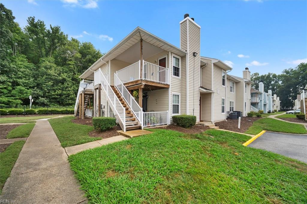 This condo apartment is vacant & move-in ready.  Centrally located with easy access to the Interstate and all that Hampton Roads has to offer.  Pride of ownership is evident with many upgrades including new windows, new laminate floors throughout, additional cabinets, appliances all new within the last 5 years, Brand New SS Range replaces white one in pictures. HVAC replaced 2016; new water heater 2018; freshly painted.  Living room has vaulted ceiling w/skylight. Condo fees include sewer, water & trash.