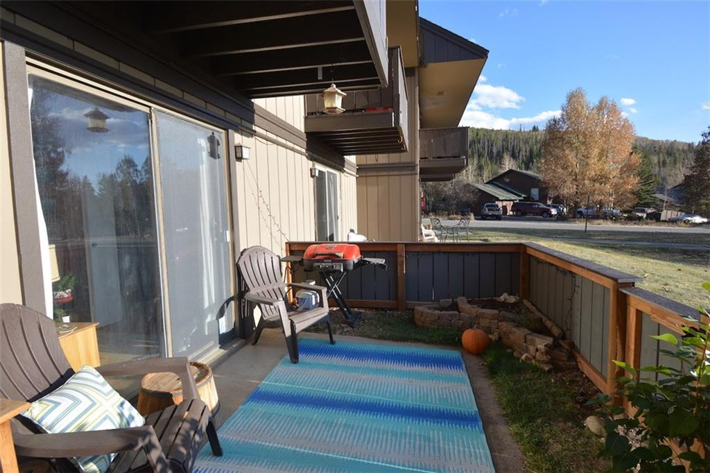 Perfect little condo at a great price! Very private with expansive views of the Gore Range and the well maintained grounds. The upgraded patio adds considerably to the living space and there is lots of storage for all your gear. The bathroom has been recently upgraded with new tile and window and the oversized vanity offers additional storage. Great location, near Summit County bus line, bike trail, and only a few miles from world class skiing. Perfect for the weekender or full time resident.