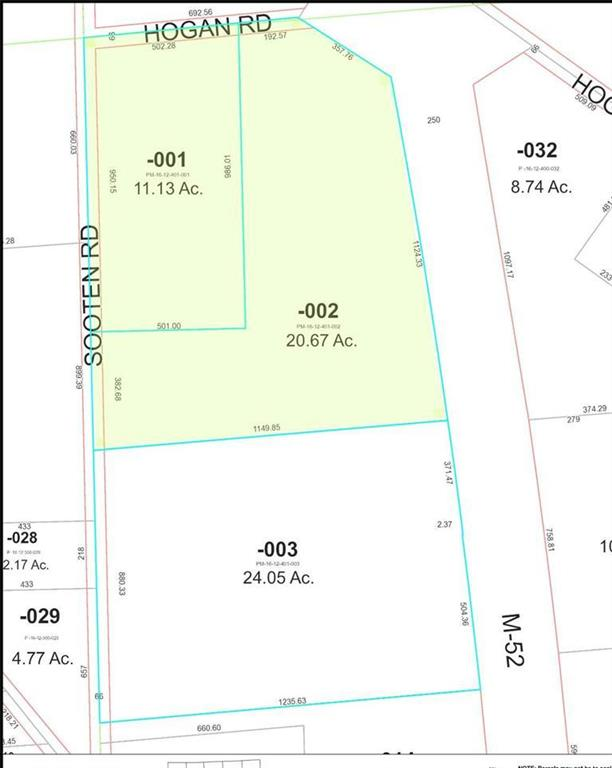 Parcel for Commercial and/or Industrial use.  When the property was rezoned at the request of the owner in 2007, the Village of Manchester indicated that the entire parcel could be either Lt. Industrial or Commercial. Reasonable offers considered!