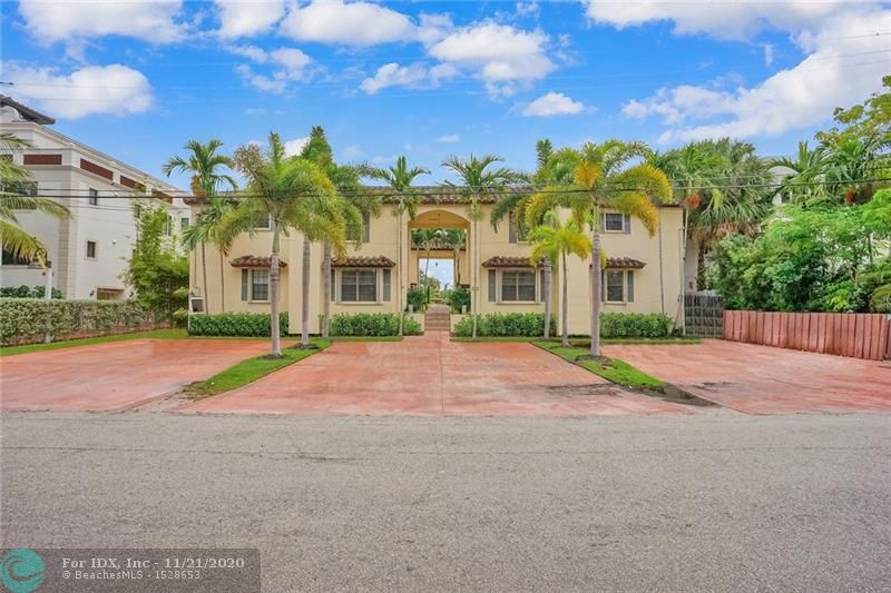 Gorgeous 2 bedroom 2.5 bath townhouse on the water, with deeded 35 foot dock and no fixed bridges. Only 6 units in this quaint complex, walking distance to the Lauderdale Yacht Club! Updated flooring throughout, this home boasts large bedrooms on the 2nd floor, with on suite baths. Half bath is conveniently located downstairs for guests while entertaining. Perfect location in sought after Rio Vista! Two common deck patio areas to use at your leisure. Tandem parking space and plenty of guest parking. Full size side by side washer and dryer located downstairs. Upgrades to the grounds including new turf grass and pavers coming soon! This is a must see as it will not last long!