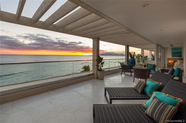 SIGNIFICANT PRICE REDUCTION!  Living the Hawaiian dream in the Gold Coast Hideaway atop a premier destination - an extremely private Penthouse luxury apartment with stunning ocean, mountain and sunset views - the entire top floor of the building. This rare oceanfront gem is the only one of its kind. Live this fun lifestyle next to Diamond Head with the ocean playground in your backyard - surf, kayak, swim and snorkel at your doorstep. Watch whales from the flowing balcony and enjoy spectacular Waikiki sunsets. A fully appointed kitchen, three large bedrooms and three and a half bathrooms with two parking stalls offering ease of living and comfort. Steps to fine dining and Waikiki.