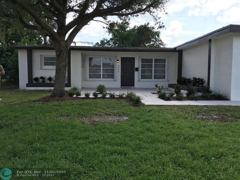 Fully remodeled 1800 square foot 3 bedroom 2 bath home with a large laundry Room large master with large closets. Newer roof in a great area of sunrise. Also has upgraded kitchen and baths. All new Frigidaire stainless steel appliances with upgraded washer and dryer will be installed for final walk.  Call today for showing. This property will not last.
