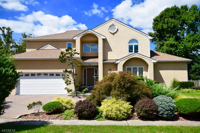 2018 RENOVATED 4BR, 3.1 bath w/OPEN FLOOR PLAN. BUILDER'S personal home on a PREMIUM landscaped lot. PAVER circle dwy, multi-tiered DECK, NEW roof, HUGE DESIGNER upscale kit, 2 MASTER suites, Great Rm Recent 3 Central AC units and 3 Heating furnaces plus a new Hot water Heater; GYM, OFFICE, GAME/MEDIA center in a beautifully Finished Lower Level; 2 gas fireplaces, Dramatic High Ceilings, underground lawn sprinklers for a verdant ambiance. ONE of the most IMPRESSIVE and NEWEST homes at the UPSCALE PRINCESS ESTATES enclave of fine residences