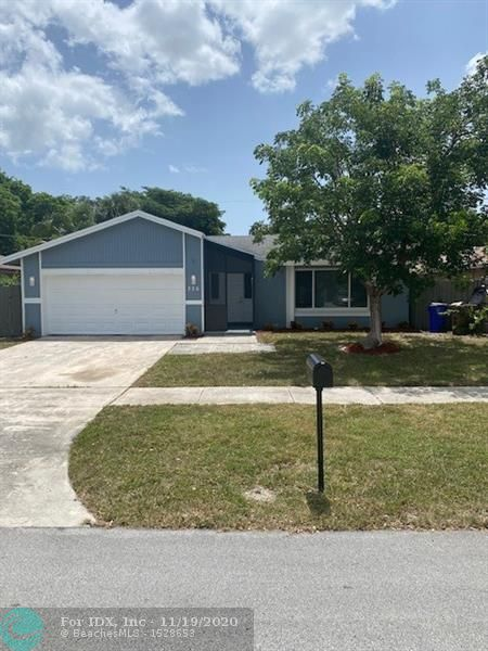 Beautiful fully remodeled 3/2 home in Deer Run! Everything is brand new! New floors, kitchen appliances, bathrooms, resurfaced pool, impact windows, electrical panel, AC, and landscape! Roof is in great condition. No HOA!