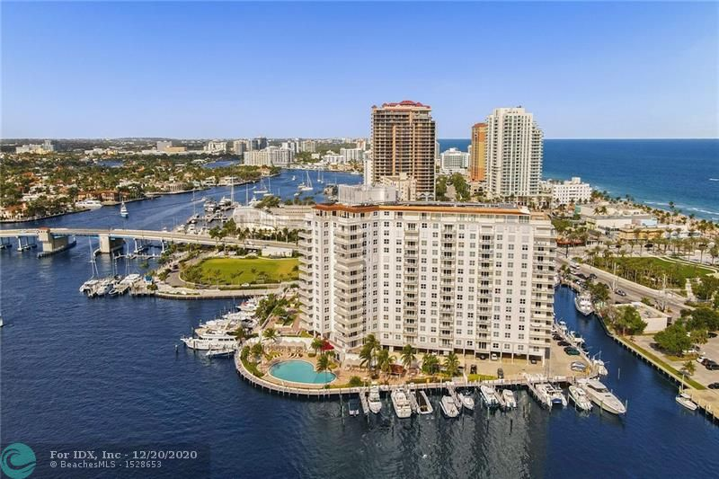 Views of Intracoastal waterways- yachts cruising by. Location- Beach, Las Olas fine dining, 17 street shopping, Airport and Downtown Fort Lauderdale. Complex is complete with Tiki hut, garden decks, hot tub, outdoor gills, fitness center, library, spacious Lobby and reception center, Guard gate entrance. Yachts of multiple sizes with dockage, workshop with drills, saws, tools and space to fix your yacht or private collections. Covered parking in great location.