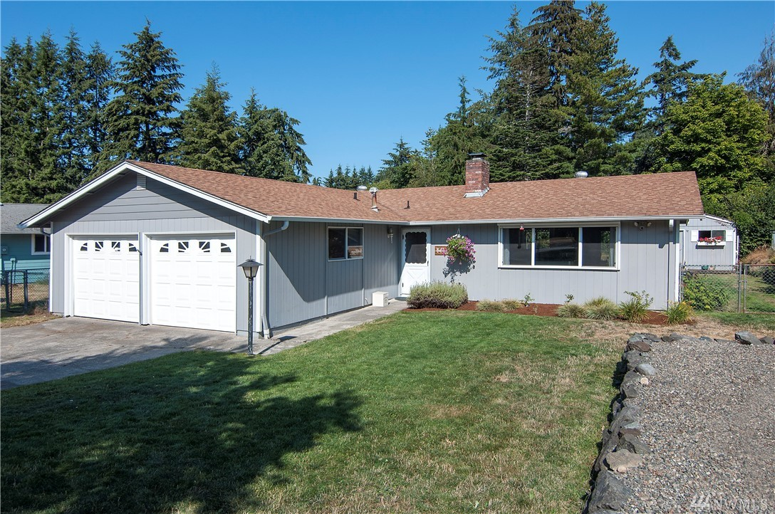 Check out this delightful Steilacoom rambler situated in quiet neighborhood just a few minutes' walk to the quaint downtown, beach parks, trails and Cherrydale! Updated open kitchen with crisp white cabinets, quartz and SS appliances. Excellent floor plan w/master ensuite, laundry/mud room and spacious garage. A/C! Large covered patio, fully fenced backyard is excellent for entertaining. It has a darling garden shed, sprinkler system & a prolific old apple tree! This is a place to call home!