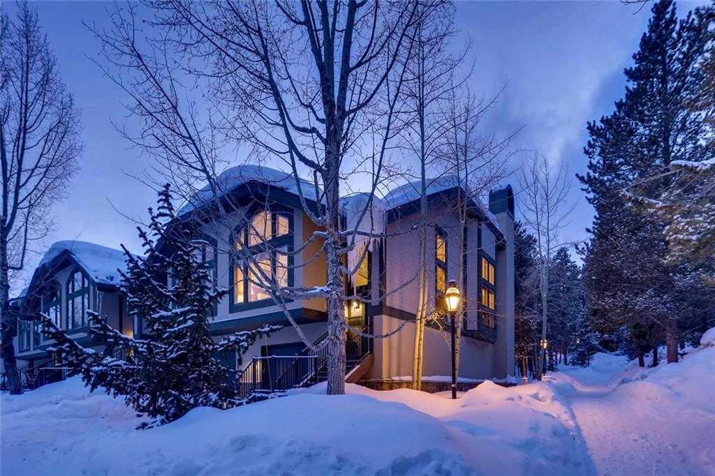 Very best location in One Breckenridge Place.  Quiet, private, secluded and adjacent to a towering pine forest and open space.   Luxurious interior finishes and a huge bank of windows on this end residence creates everyday sun splashed living.  Walk to Quicksilver Chairlift, Historic Main Street and the Riverwalk Performing Arts Center.  Dues include membership in the Upper Village Pool amenity package including indoor-outdoor pool and spas.