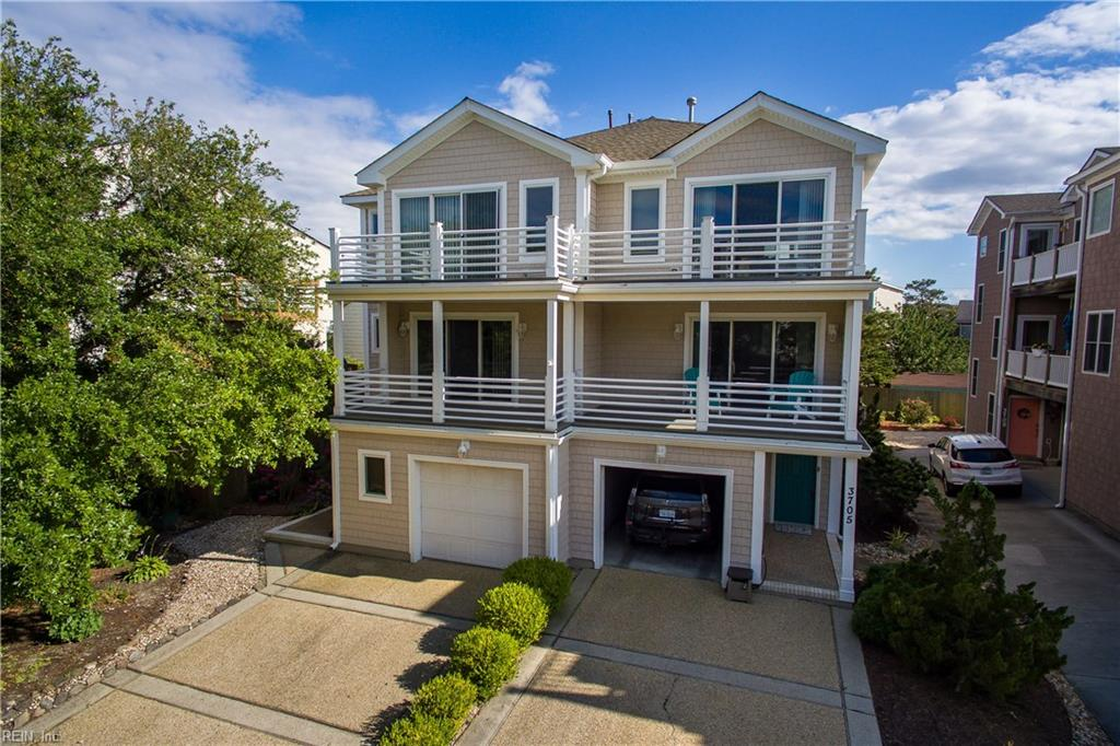 Live the coastal lifestyle in this immaculate & stylish town home. Located adjacent to the calm waters of Chesapeake Bay on the most distinctive drive in Ocean Park. Just a minute to the sand & water via the local beach access. Surrounded by amazing waterfront restaurants, shops & local entertainment venues this home won't last long. This one-time owner property is well-appointed & updated. Anderson Windows & Doors, GE Profile appliance package, New Roof 2018, New Exterior Siding & Composite Decks 2015, tankless water heater, gas logs, insta-hot sink, updated high-efficiency HVAC systems, freshly painted interior, all in turn-key condition. This very attractive floor plan is inviting with a first-floor bedroom, spacious master suite w/spa tub & multiple private decks. The home is complete with a charming back deck & garden, oversized garage & multicar driveway. Don't miss this opportunity to call this amazing property home. Contact the listing agent for a private showing today!