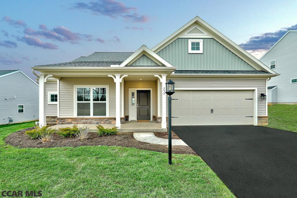 OPEN HOUSE - SATURDAY, Jan. 18th, 11:30 AM - 2:00 PM. Why wait to build? Our beautiful Abbey floorplan boasts an open design that offers luxury with the convenience of one story living. Enjoy the eat-in kitchen and large family room. A spacious owner's suite with walk-in closet and owner's bath is sure to impress. We added the most popular options to our quick delivery home; first floor area expansion which make the breakfast nook, family and owner's suite 2 ft. larger, versatile kitchen island, beautiful granite countertops, Stainless Steel GE Appliances (stove, microwave and dishwasher), double bowl, raised height vanity in the owner's bathroom, laundry tub, stone facade and a patio.