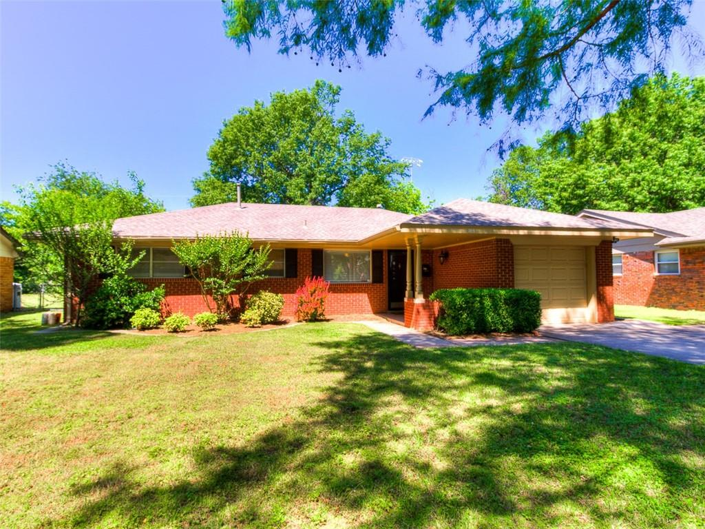 Awesome home with 1.5 baths just blocks away from OU. Central heat and air! Beautiful wood floors throughout with exception of carpet in the bedrooms and tile in the kitchen and bathrooms. Newly remodeled kitchen plus much more!