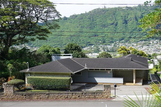 Incredible opportunity to own this large property in a quiet Manoa neighborhood!  Spacious floor plan with two living rooms, 4 bedrooms, and 2 walk-in shower bathrooms.  Lots of built-in storage cabinets.  This home is well built and architecturally designed with many intricate details. Recent upgrades include hurricane clips,  Craftsman Portrait Picture Windows in the lower living room, exterior painted in 2019, and interior in 2021. Landscaped yard with a Japanese garden and dry pond.  Large fenced lot in back of the property.  Property has many features and lots of possibilities await the new buyer! Very conveniently located near public transportation, schools, Manoa Market Place, and eateries. Buyer and buyer's agent to do own due diligence.  Property sold as-is.