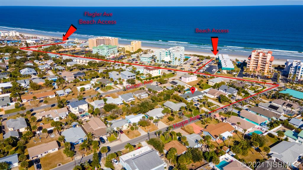 Beachside triplex in the SHORT TERM RENTAL zone, appx 1000 feet from the beach.  Total of 5 bedrooms, 5 baths in all, set-up as a 1/1, 2/2 and larger 2/2.  All units are separately metered for electric, water & sewer.  Tenants pay all utilities.  Almost totally rebuilt in 1997 with enclosed porches added in 2002.  LVP flooring recently added.  Roof 2016.  Each unit includes a range, refrigerator, dishwasher, washer, dryer and each has an enclosed Florida Room entry and rear porch, too.  Ample parking for tenants, owners and their guests.   The property is UNDER-RENTED to long term tenants (824 has lease until 04.30.2022 at $1,125 per month, and others are month to month $675 and $950).  With 2679 sq ft living area and 3529 sq ft total area, this 100x117 multi-family zoned property offers opportunity for combination of long and short term rentals, family compound and/or owner who wants income and have a place of their own, as well as the possibility of subdividing.   Located on a quiet street just a few blocks to Detwiler Park tennis, basketball & playground, 700 feet to Marianne Clancy Park, 7 blocks to Flagler Ave restaurants and shops and about half a mile to Publix.