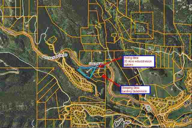 One of the few developer tracts remaining in Big Sky. 20 acres with residential cluster, single-family 2.5 acres (RC-SF 2.5) Zoning, allowing for subdivision of up to 8 lots. Premier location midway between the Meadow Village and the Mountain Village. Gentle slope and grade. Power and phone to lot. The primary roadway is roughed in. Also great for a family compound with multiple building sites. Horses allowed. This is a unique offering with many possibilities.