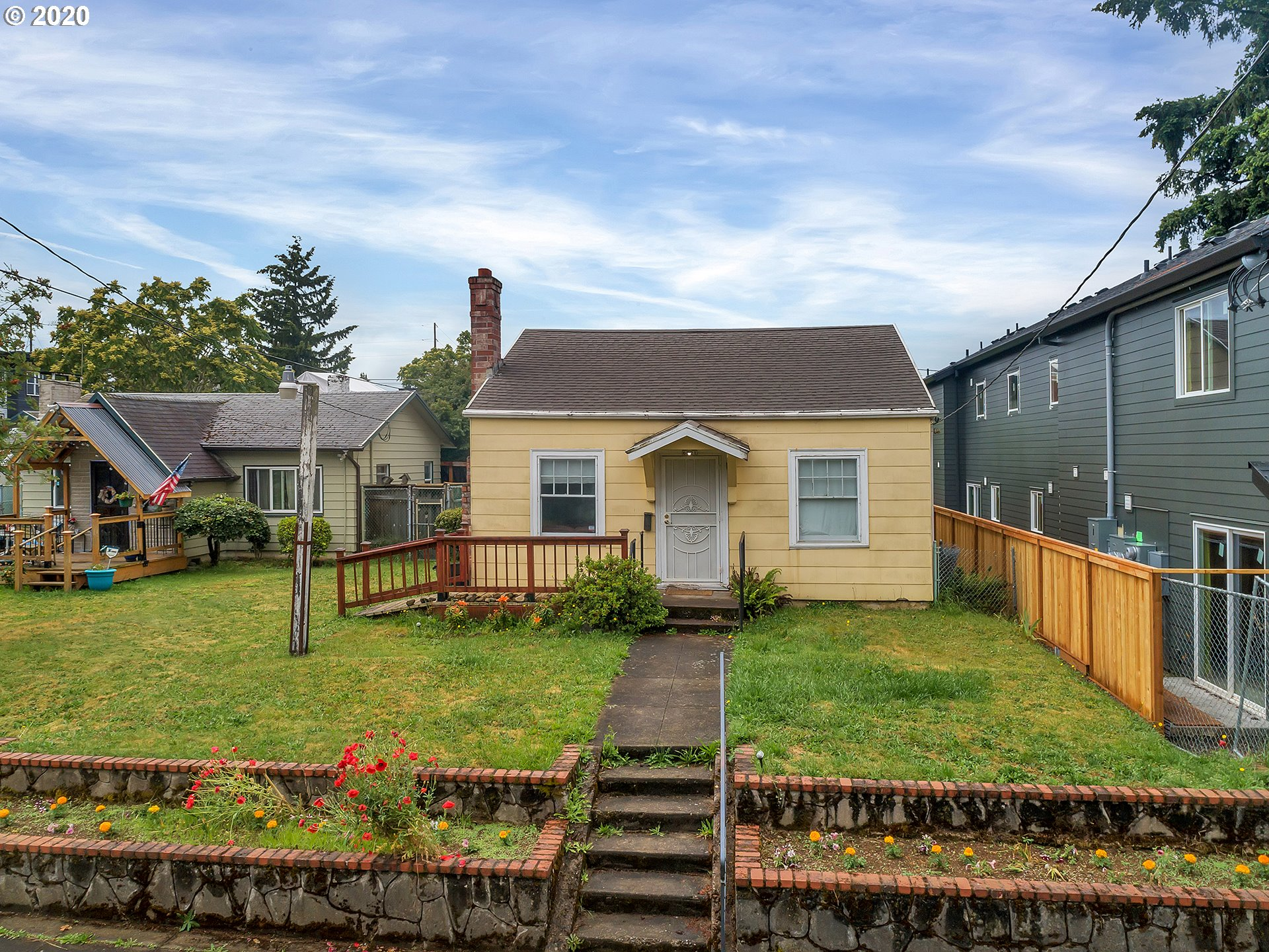 Bring your creativity and vision to make this lot/fixer into investment magic! Located in primo Arbor Lodge close to Light Rail, New Seasons, Peninsula Park/Rose Garden, property includes these bonuses: antique woodstove, Bike Score:96, extra sq feet in the partial basement & a generous private yard with greenhouse, firewood and composter for gardens, pets & play. RM3 Zoning allows for development of multiple units (buyer to verify). Property sold as-is: seller to make no repairs. Dream. Tour.
