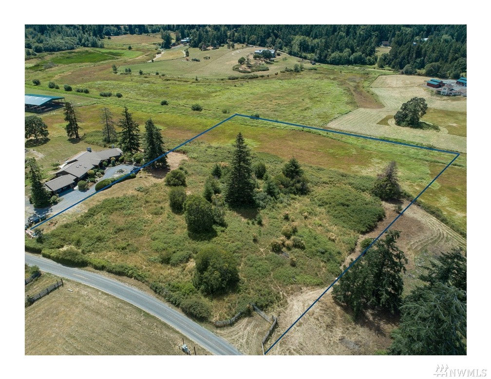 South west facing acreage with pasture in beautiful Blazing Tree Valley.  4.37 acres with a mixture of rolling elevation and field with lovely territorial views to the southwest.  Coveted neighborhood close to English Camp National Park and Roche Harbor trails with access to miles of trails for horseback riding and hiking.  Community access to beautiful lake for fishing and boating.  Community water system with hookup on property. Power and phone.