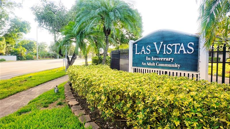 Spacious first-floor condo in a gated community of 55+ overlooking garden view, pool, and shuffleboard courts.  Enjoy tranquility in such beautiful community Las Vistas with 5 pools and 10 shuffleboard courts, clubhouse, gym, card room, library, sauna, and social community room. Spacious 2/2 tile throughout and carpeted master bedroom with walking closets and satisfying storage. Eat-in kitchen with pantry! Building G has shared washer and dryer near by the mailbox, however this unit has a washer but no dryer or dishwasher.  Great location close by main major highways and shopping centers is just miles away.  Hurry up and check it out.