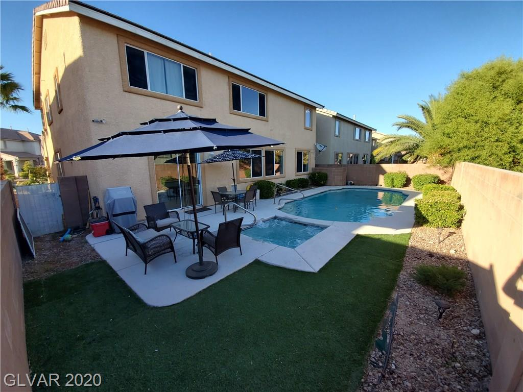 Sparkling POOL & SPA!!! Open floor plan & lots of storage*Easy access to the I-215, Downtown Summerlin, & Red Rock Canyon*GREAT Schools*Covered porch*Large living/dining room*Gigantic family room with den*Kitchen has double ovens, gas cook-top, center island, pantry, cabinets galore & eat in area*DOWNSTAIRS bedroom, 3/4 bath & large laundry room*Upstairs is an enormous loft*Master bedroom has a master retreat & 2 walk-in closets
