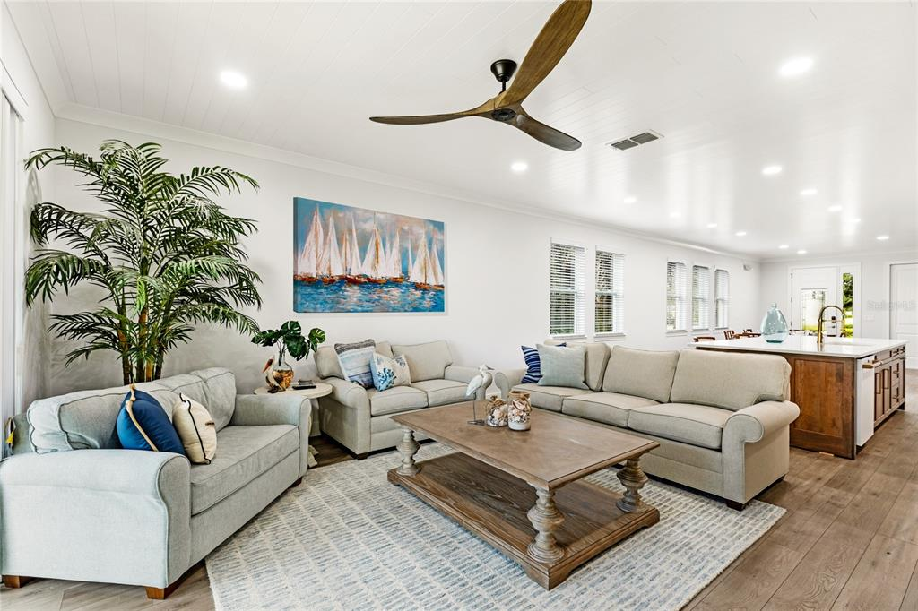 Upgraded Coastal Ceiling fan with remote.