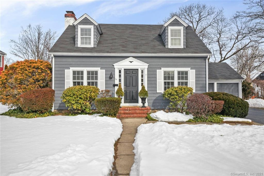 Enjoy the comforts this charm filled home has to offer.  A welcoming and gracious foyer enhances this Quintessential Colonial Cape leading you to a bright, sparkling freshly painted interior and beautifully refinished hardwood floors throughout!  Spacious sunfilled rooms create a seamless flow ideal for entertaining and family living.  Large formal Living Room for gatherings or quiet time by the Fireplace, Sunlit Office/Den off the living room with ceiling fan, full bath on main level, Formal Dining Room with Corner cupboard suitable for all occasions, newly painted white kitchen with Breakfast Bar, Large enclosed porch off the kitchen overlooks a private back yard surrounded by a privet hedge with natural arbor ideal for family fun all year long.  Attached 2 car garage with storage above.  A wide staircase in center hall leads to 3 large bedrooms with numerous closets in each. Large front to back Master bedroom with custom built-ins and window seat. Another full bath in the hallway.  Additional 270 sq.ft freshly painted finished room in lower level, playroom/man cave/exercise room.  Desirable University location convenient to train, town/shopping, Restaurants, Healthclubs, Schools, I95, Merritt Pkwy, beaches and more!  Make your Home Sweet Home on one of Fairfields most sought after streets!