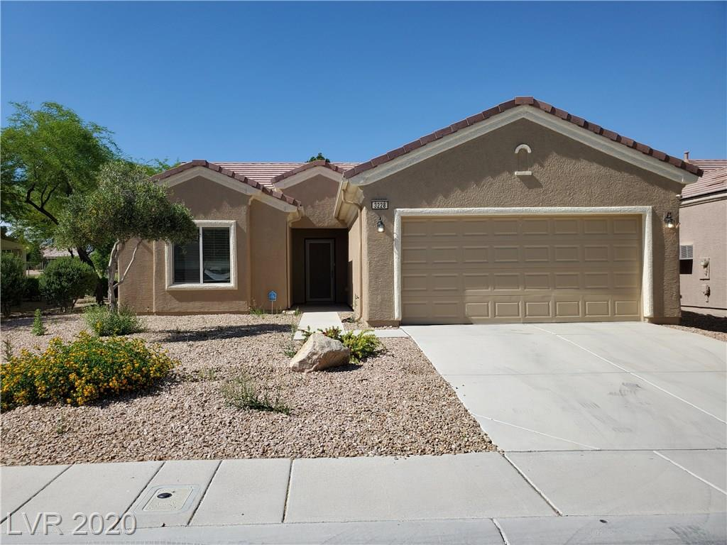 Amazing Golf Course and Mountain Views awaits you! Popular Spacious open floor plan in this 2br + Den  single story home in 55+ Sun City Aliante. This Move in Ready home has a fresh Coat of Paint throughout, Brand New Stainless Steel Appliances, Tile Floors, Corian Counter Tops, and Lots of cabinet space and more.