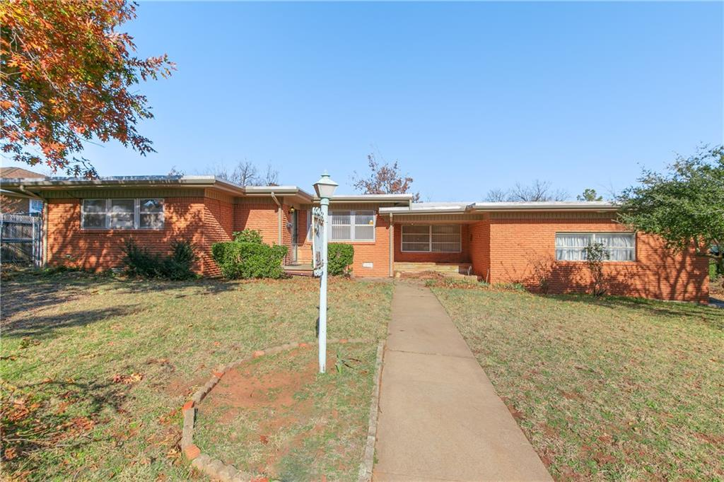 Mid Century Modern Icon looking for your upscale touch.  Split level Dining and Kitchen, wood flooring with most of the original jewelry. Open plan, generous laundry room with storage, oversized garage and carport. Large corner lot in Edgemere Terrace.  Parks, shopping and dining close by.  Great neighborhood.