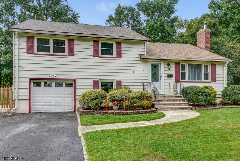 Wonderful 3 Bed / 1.5 Bath split level in great location! Just minutes to schools, parks, downtown Cranford & NYC train. Living room w/fireplace flows into dining room that leads into adjacent kitchen. All three bedrooms are quietly tucked away on the 2nd level along with the full bath with tub shower. Family room and powder room on ground level, plus unfinished basement and attic offers plenty of storage. This home also features a brand new roof, new carpet in family room, newer hot water heater, new shed and hardwood floors throughout. Great fenced-in backyard with your own gated entrance to Roosevelt Park. Plus, one car garage with attached workshop in rear, driveway, central air, gas heat, deck off of kitchen and maintenance free vinyl siding. Perfect neighborhood. Hurry, this will not last!