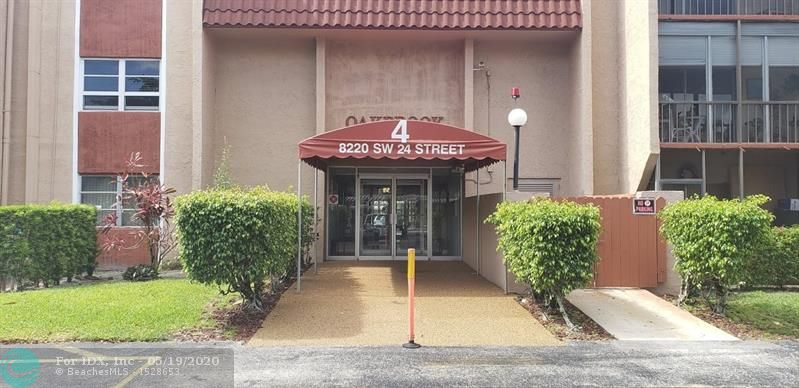 Good opportunity to own a third floor 1/1.5 unit in a senior 55+ community in North Lauderdale. Conveniently located. Screened balcony. Close to the Elevator. Original kitchen and bathrooms. Priced to sell as is. Extra storage. Lobby secure building. Maintenance includes water, fiber optic cable and high speed internet. Clubhouse with gym, library, game room. Heated pool and tennis court. No pets. No rentals allowed.