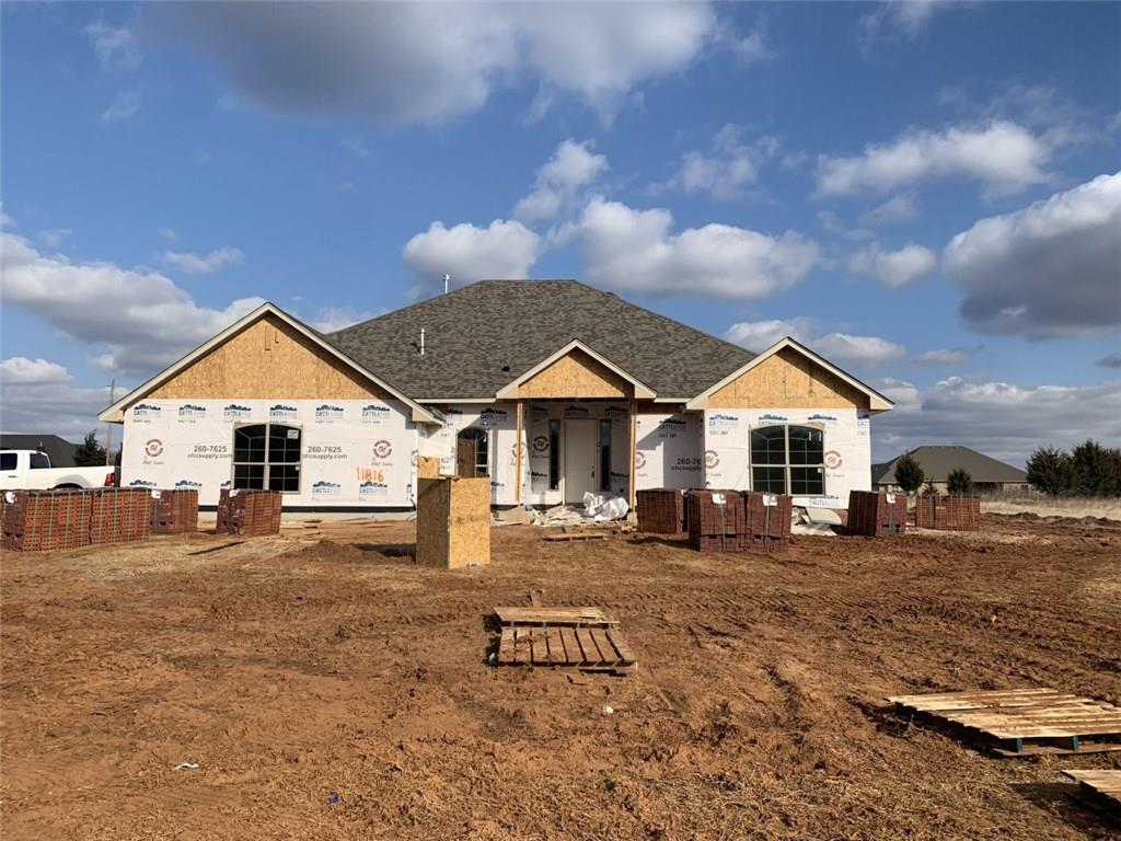 Come check out this fabulous new construction home that sits on .80 Acres MOL and includes a 30X40 workshop with a concrete slab floor, one walk thru door, an 10x8 overhead door, and moisture barrier insulation!!  This long time metro builder offers an energy efficient home that has custom cabinets throughout, stainless appliances, granite throughout, and a floor plan that offers no wasted space.  This neighborhood is selling out fast!  So call to schedule your private showing today!!