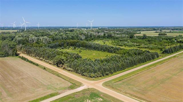 A rare find! 80 acres of hunting/farm land in Port Hope;  44 acres tillable and the remainder 36 wooded. Corner parcel at the north west corner of Brining and Moeller.