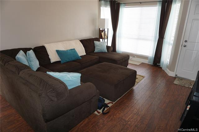 Come visit this upgraded and move in ready condo with mountain and sunset views. Laminate flooring throughout the living spaces and ceramic tile in the kitchen and bathrooms. Ceiling fans and air conditioners in the living space and the bedrooms. Upgraded bathroom vanities. New refrigerator and garbage disposal. The community has a pool and cabanas. Access to the community is through an entry gate. Call the listing agent for access.