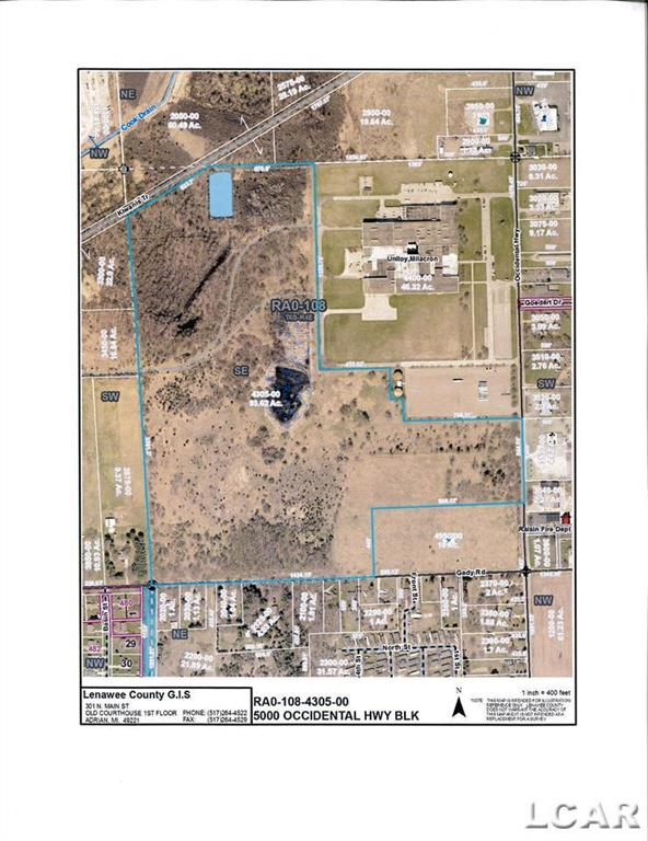 Total area is 93.62 acres. Seller will survey off a retention pond at north end of property, used as water run-off collection from roof of large building adjacent to this property. Original size of property was 103 acres. SOLD off 10 acres on corner of Gady and Occidental to MEC Power and Communications Co. in 2020. This property will be remaining acreage afer surveyed off water retention pond!  Updated New Master Plan 2021 shows this property can be best use as commerical .
