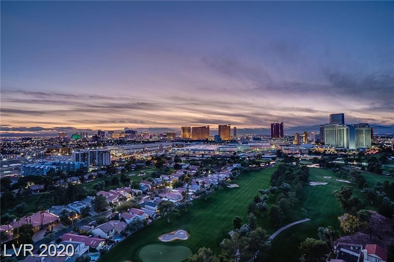 "Highly sought-after end corner ""G"" unit with FULL STRIP VIEWS! This unit has unobstructed views of the Las Vegas Strip, golf course, and mountains with a wrap-around balcony. Large open kitchen, electric blinds, floor to ceiling windows, clean and neutral decor! Located in the world-famous Las Vegas Country Club! Secure and amenity driven building, valet, gym, and guest suites!"