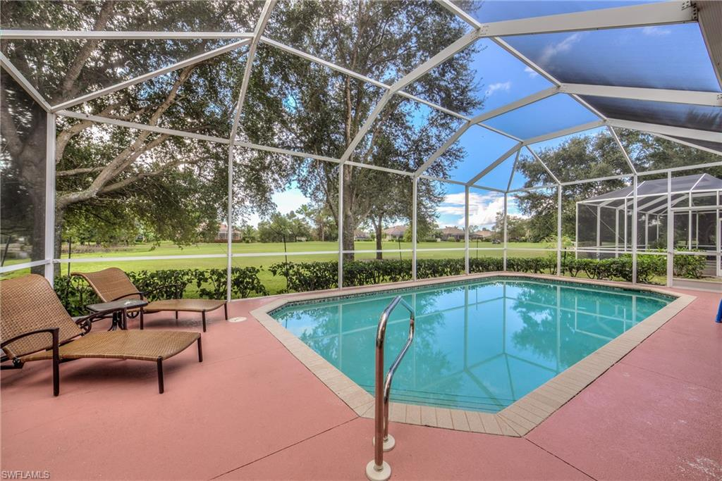 HAVE YOU EVER SAID…I want a Pool Home with a Southern Exposure, that's in Great Condition, maybe even Newly Painted and Furnished! OR... What I want is a Great Room Plan with 3 Bedrooms, 2 Baths and a 2-Car Garage! How perfect would your Dream Home you could bike to the Beaches, in the middle of marvelous Shopping & Dining, and was close to everything you and your friends like to do when visiting in SW Florida? Well, guess what! This Beautiful Marbella Home in Spanish Wells is calling your name! Just move-in, accessorize to your personal taste, and call it home! Surrounded by a 27 hole golf course, you may simply enjoy the views or join in the fun! Memberships to enhance your lifestyle are available but not mandatory. There is so much more to say, but to feel the value you need to see it for yourself! Short notice to preview is quite acceptable.