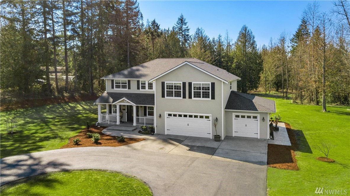 Welcome to quality, beauty & space! Custom Built 3587 SF home on 4.5 acres. Paved drive, gated. Main floor tastefully decorated & well appointed. Open concept. Great Room. Top quality Chef's dream kitchen; Quartzite counters & island, Italian Stove, Miele appliances, walk-in pantry. Main floor office/guest room. Spacious Master Suite on second floor; elegant 5-piece bath, soaking tub, walk-in shower. 3 addt'l b/rooms upstairs. AC, shed & stamped concrete patio w/gazebo, 3 car over sized garage.
