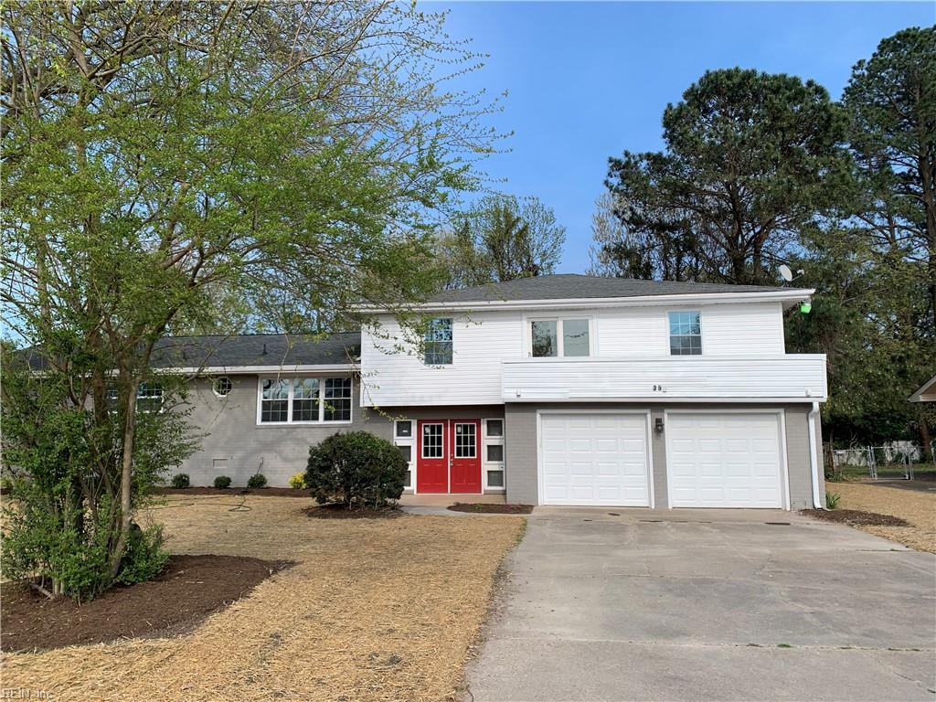 Newly renovated Home, water proof flooring , hard wood floors, ceramic tiled showers, and wainscotts in living room and master bedroom. 2 car garage in central Hampton it wont last long