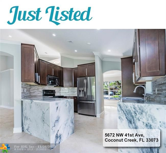 Fully renovated. Brand new A/C unit, kitchen, marble counter tops, appliances, porcelain tile flooring, bathroom vanities. 3 bedrooms, 2 bathrooms. Hardwood floors in the bedrooms. 2 car garage. Close to Winston Park elementary school. Owner is a Real Estate agent licensed in Florida