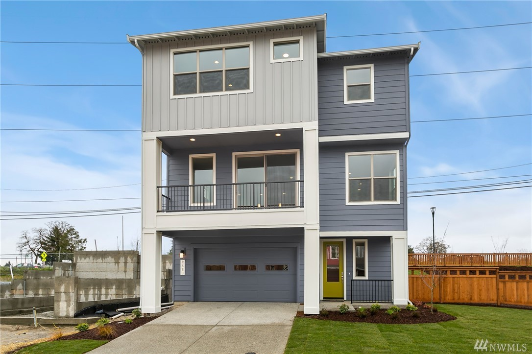 Contemporary, 3-story home in Wind Rose by Conner Homes in the Greenbridge master-planned community. Features attached 2-car garage, Great Room Concept on Main, Kit w/walk-in pantry, granite counters, white soft-close cabs, large Din & Liv Room area with gas FP & large deck plus bedroom & 3/4 bath. Upstairs spacious Master w/large bath & W/I closet, 2 more beds, full bath, loft & laundry rm w/sink. Landscaped with fenced rear yard & covered patio. Close to Seattle & SEATAC. Est Dec Completion.