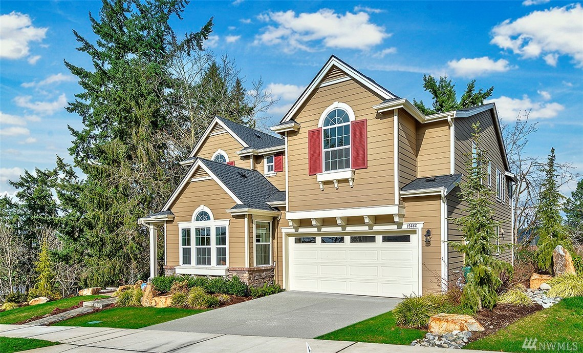 Stunning Toll Brothers home in the highly sought after Crestview community. Open & soaring living room w/ HW floor, Gourmet kitchen & extended island, SS appliances & granite slab countertop. Den/office (convertible to bedroom). Spacious master bedroom + guest bedrooms upstairs, huge bonus area in the fully furnished basement + play area (convertible to bedroom). Custom designed front & backyards, deck & sprinkler system. Close to MS & 405 & view of park from deck for entertaining in the summer!