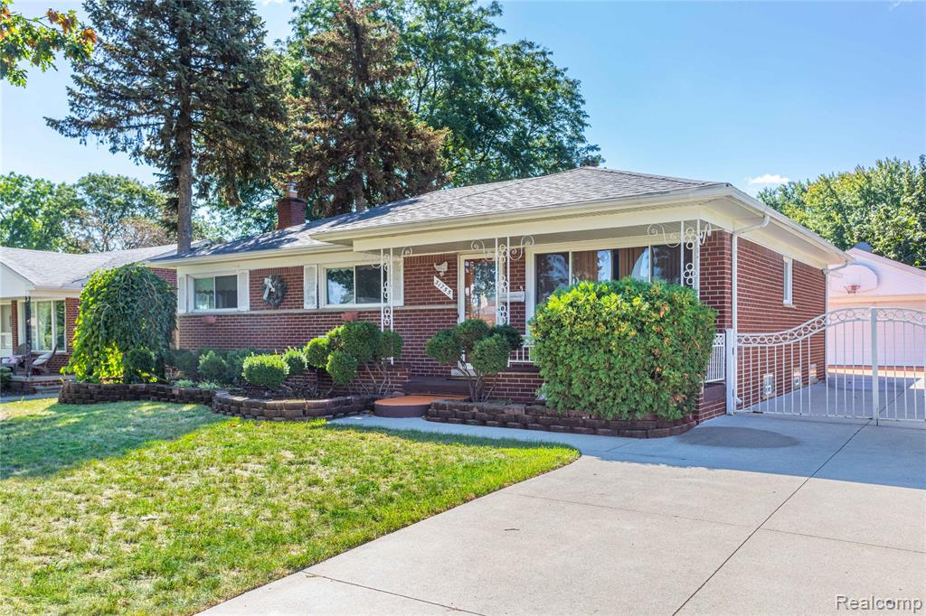 Location, Location, Location! Welcome home to this well maintained brick ranch in a highly desired location of Livonia.  Previous owners loved this home for over 20 years and their pride of ownership shows. 3 Bedrooms, 2.5 bathrooms. Beautiful all season room was built in 2015, adding extra living space. All big ticket items have been updated. New Wallside windows throughout the home with lifetime warranty, Newer A/C, Furnace, Roof, gutters, blown insulation and driveway. Eat in kitchen with granite counters and stainless steal appliances. Freshly painted with some newer carpet. Finished basement with additional room, bathroom, kitchen area and plenty of storage. Outside you'll find a great patio area, shed, and sprinkler system. Custom built master bedroom furniture will stay in home. Award winning Livonia schools. Close to freeways, shopping, restaurants, and more. Keys at closing!
