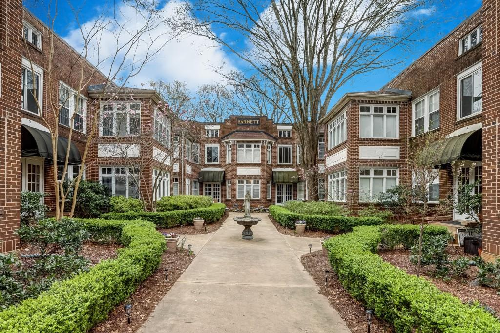 In the Heart of VA Highland!! Literally only steps from the Beltline, Ponce City Market, Piedmont Park, & VA Highland Bars/Restaurants for limitless Shopping, Dining, & Entertainment options! This Condo features Loads of Natural Light, Gorgeous, Original Hardwoods, & Moldings. Recently Remodeled Bathroom and Spacious Living Room! The Bedroom has a HUGE Closet & Bay Window overlooking a Stunning Courtyard. Gated, Dedicated Parking! Basement Storage! The Barnett has gorgeous landscaping year round along w/an amazing community & Homeowners Association!