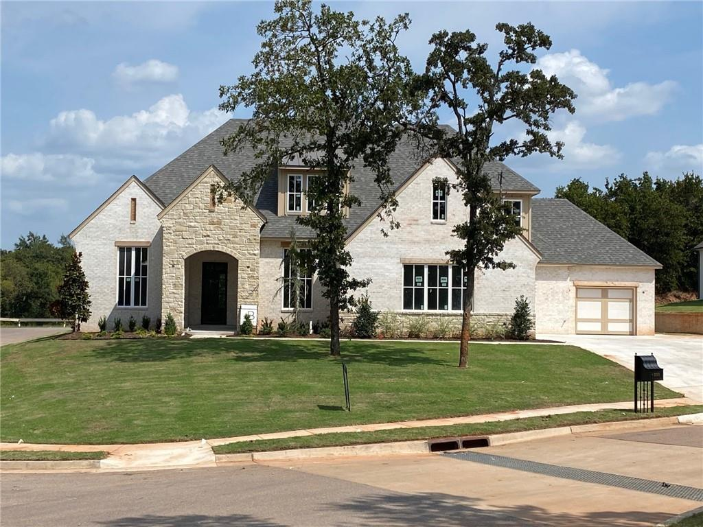 This is a stunning J Bentley home. Now is your chance to live in a gorgeous new build in this sought-after community in Edmond. Residents here enjoy a natural greenbelt, cabana with swimming pool, community playground and top ranked Edmond Schools. A beautiful large iron door opens into the home where high ceilings coupled with hardwood floors proved an unparalleled feeling of luxury and openness. A spacious formal dining room and a stunning study are near the entry. The kitchen features beautiful quartz countertops, spacious custom cabinetry, and a large butlers pantry. The master suite boasts an extra large walk-in closet and access to the large utility room. There are two bedrooms upstairs, along with a large bonus room. This house is complete luxury!