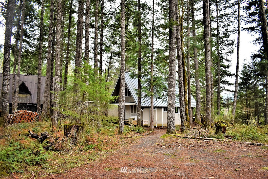 Packwood cabin available in the highly desired community of Lower Timberline. One bedroom on the main level, and staircase leads to two spacious bedrooms. Main living area offers access to back deck with views of a beautiful forest setting. Cozy up in front of the woodstove. Home is set towards the back of the property which is a nice feature for privacy from the road.  Driveway includes plenty of room for parking. Timberline community features offer outdoor pool and tennis court. Packwood is known for its close proximity to White Pass Ski Area, Mt. Rainier National Park, Gifford Pinchot Nat'l Forest, and a crossing for the Pacific Crest Trail. Are you ready to own your own cabin retreat?