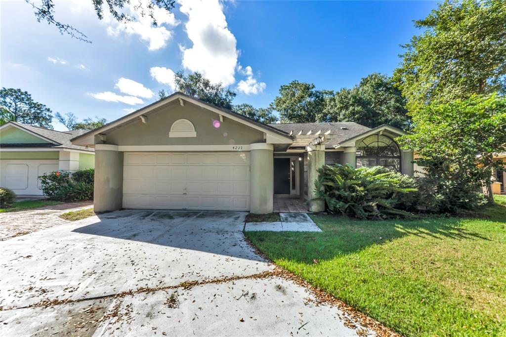 So many possibilities, and so much potential, with this 4/3 2184 sqft main home and a detached 1/1 357 sq ft studio. This home features a split floor plan, updated kitchen with granite countertops, solid wood cabinets and travertine backsplash, wet bar for entertaining, large master suite with a custom closet. On the other side of the home are 3 bedrooms and 2 bathrooms. Out back, you have a separate flex space/in-law suite with a full bathroom that needs quite a bit of TLC. HVAC replaced in 2014 and water heater 2016.
